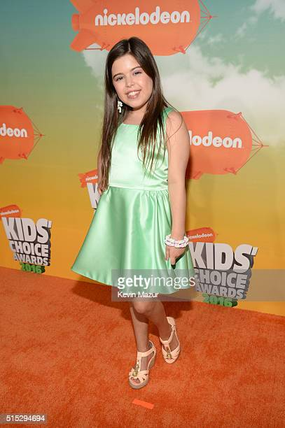 Singer Sophia Grace attends Nickelodeon's 2016 Kids' Choice Awards at The Forum on March 12 2016 in Inglewood California