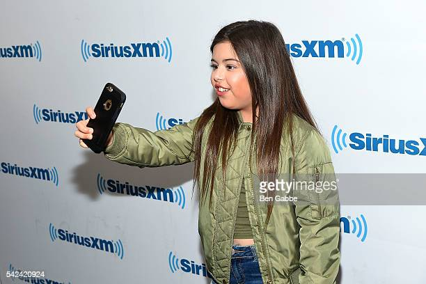 Singer Sophia Grace takes a selfy at SiriusXM Studios on June 23 2016 in New York City