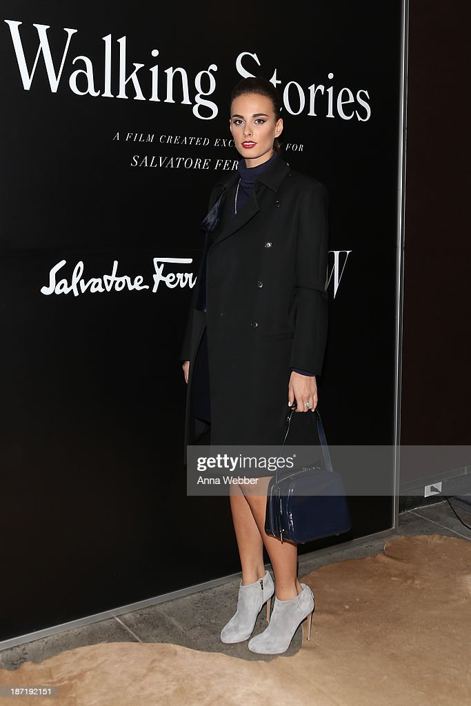 Singer <a gi-track='captionPersonalityLinkClicked' href=/galleries/search?phrase=Sophie+Auster&family=editorial&specificpeople=2098020 ng-click='$event.stopPropagation()'>Sophie Auster</a> wears Ferragamo Fall/Winter Collection during Ferragamo and Stefano Tonchi Present A VIP Screening of Premier Film Walking Stories on November 6, 2013 in New York City.