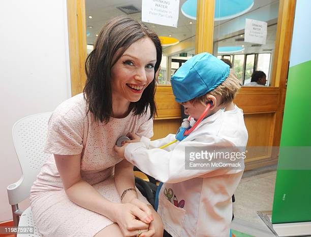 Singer Sophie Ellis Bextor Launches Disney Junior's Million Disney Memories campaign at Great Ormond Street Hospital on July 26 2011 in London England