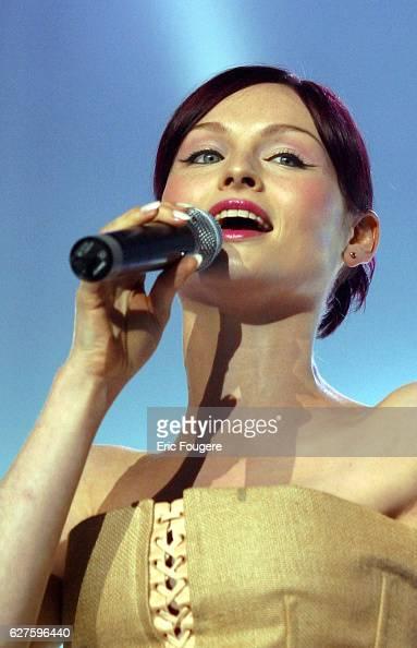 Singer Sophie Ellis Bextor on stage