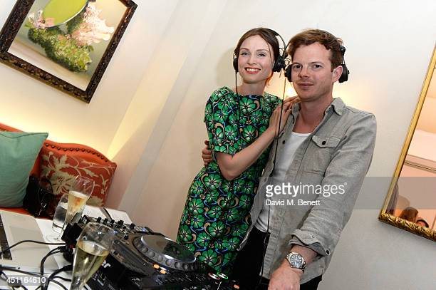 Singer Sophie EllisBextor and her husband Richard Jones perform at the Daphne's restaurant 50th Anniversary Party at Daphne's on June 24 2014 in...