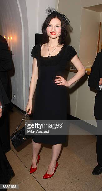 Singer Sophie EllisBextor attends Chaos Point in aid of NSPCC at the Banqueting House November 18 2008 in London England