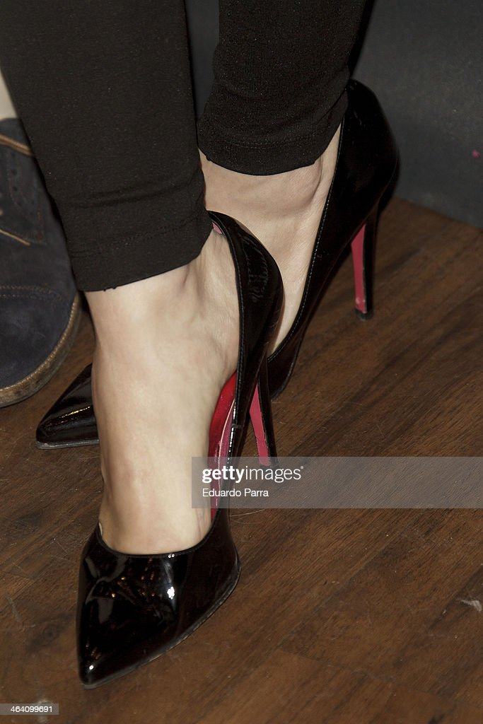 Singer Soraya Arnelas attends Emidio Tucci new collection photocall at Calderon theatre on January 20 2014 in Madrid Spain