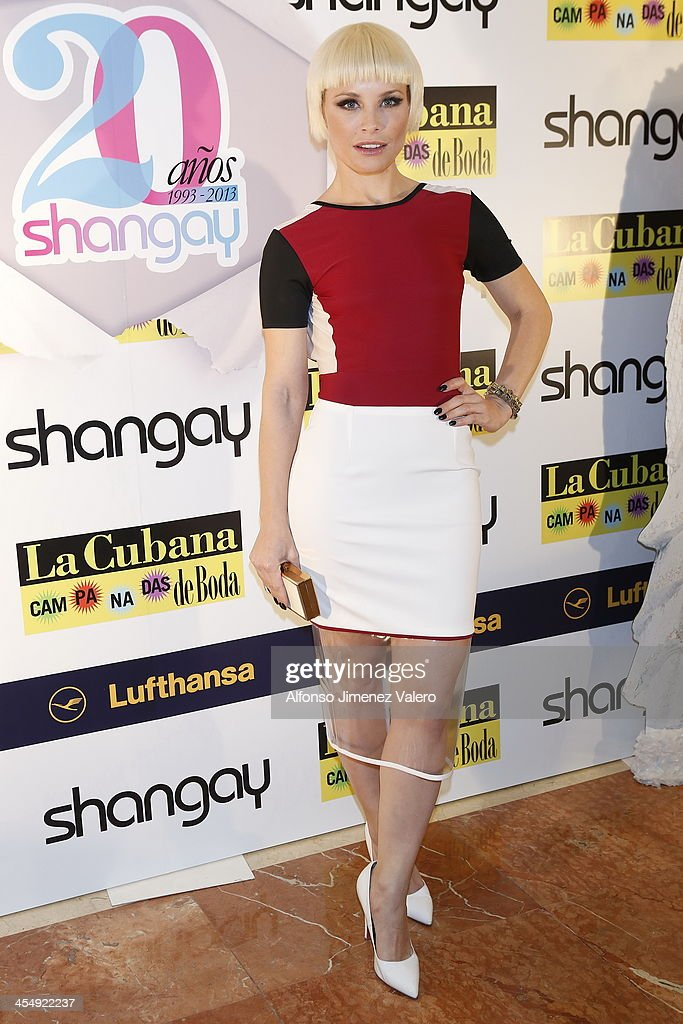 Singer Soraya attends Shangay Magazine 20th Anniversary in Madrid at teatro Nuevo Alcala on December 10 2013 in Madrid Spain