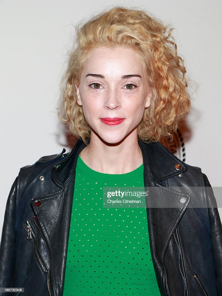 Singer St. Vincent (<a gi-track='captionPersonalityLinkClicked' href=/galleries/search?phrase=Annie+Clark&family=editorial&specificpeople=4537940 ng-click='$event.stopPropagation()'>Annie Clark</a>) attends The Friars Club Roast Honors Jack Black at New York Hilton and Towers on April 5, 2013 in New York City.