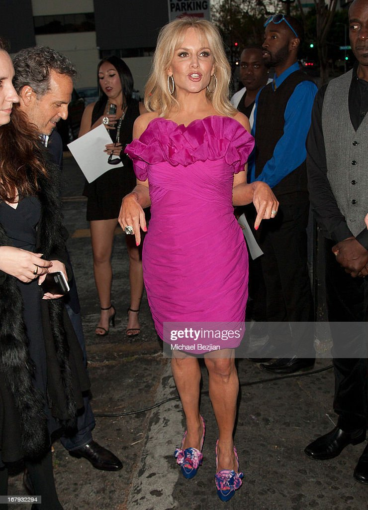 Singer Stacey Jackson arrives at The Official Launch Party of Stacey Jackson's Debut Album Benefiting Breast Cancer Charities of America at Bardot on May 1, 2013 in Los Angeles, California.