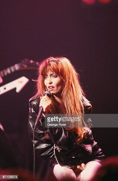 Singer Stacey Q belts out her big hit 'Two of Hearts' during a 1987 performance in Hollywood California Stacey Q was crowned by VH1 as one its...
