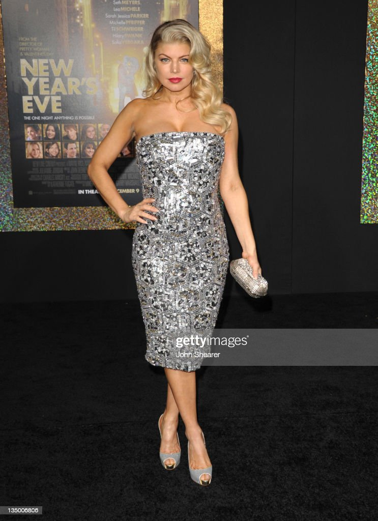 Singer Stacy Ann Ferguson aka Fergie arrives to the Premiere Of Warner Bros. Pictures' 'New Year's Eve' at Grauman's Chinese Theatre on December 5, 2011 in Hollywood, California.