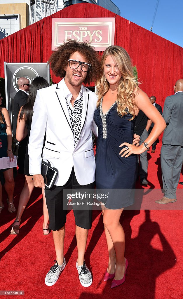 Singer Stefan '<a gi-track='captionPersonalityLinkClicked' href=/galleries/search?phrase=Redfoo&family=editorial&specificpeople=5857552 ng-click='$event.stopPropagation()'>Redfoo</a>' Gordy and tennis player <a gi-track='captionPersonalityLinkClicked' href=/galleries/search?phrase=Victoria+Azarenka&family=editorial&specificpeople=604872 ng-click='$event.stopPropagation()'>Victoria Azarenka</a> attend The 2013 ESPY Awards at Nokia Theatre L.A. Live on July 17, 2013 in Los Angeles, California.