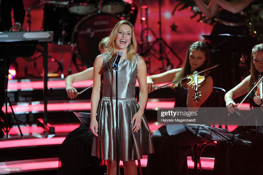 Singer Stefanie Hertel attends the 'Heiligabend Mit Carmen Nebel' Show Taping at the Bavaria Studios on November 24, 2012 in Munich, Germany.