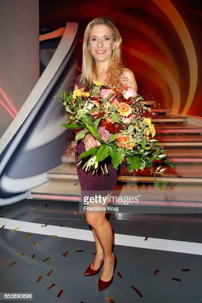 Singer Stefanie Hertel during the TV Show 'Stefanie Hertel Meine Stars' on September 25 2017 in Zwickau Germany