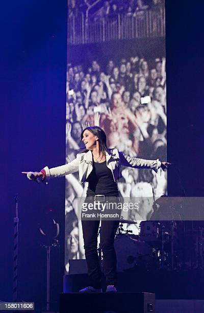 Singer Stefanie Kloss of Silbermond performs live during a concert at the O2 World on December 8 2012 in Berlin Germany