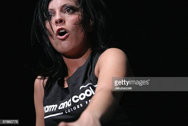 Singer Stefanie Kloss of the band 'Silbermond' performs live at the Columbiahalle May 19 2006 in Berlin Germany The concert was part of the 'Laut...