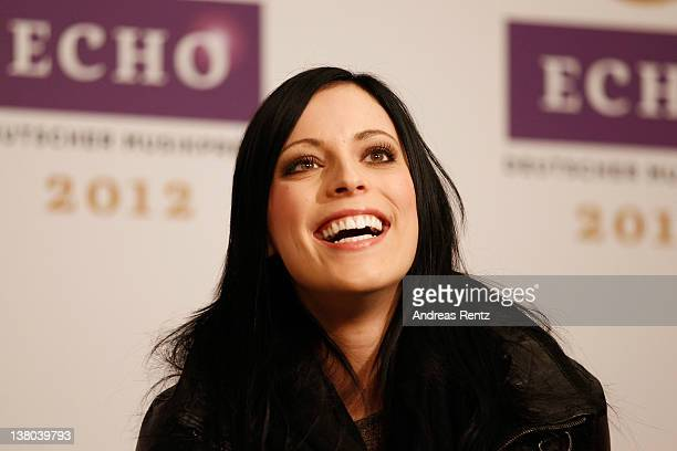 Singer Stefanie Kloss of the German band Silbermond attends the ECHO 2012 press conference on February 1 2012 in Berlin Germany The ECHO Award 2012...