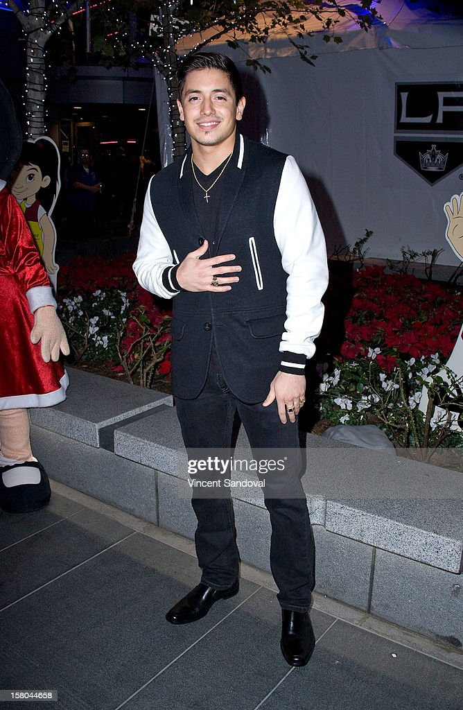Singer <a gi-track='captionPersonalityLinkClicked' href=/galleries/search?phrase=Stefano+Langone&family=editorial&specificpeople=7520931 ng-click='$event.stopPropagation()'>Stefano Langone</a> attends AEG's Season of Giving honoring PADRES Contra El Cancer during a special on-ice presentation at the LA Kings Holiday Ice at Nokia Plaza L.A. LIVE on December 9, 2012 in Los Angeles, California.