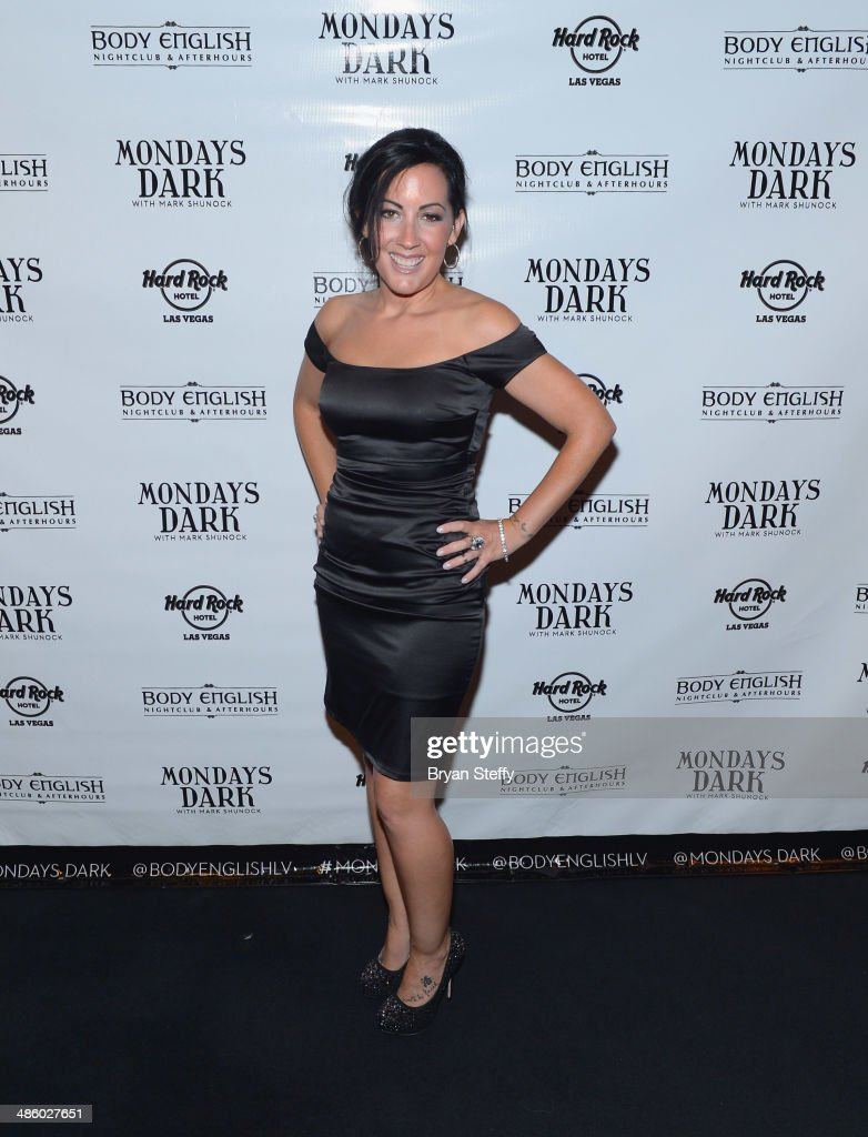 Singer Stephanie Calvert of Starship arrives at 'Mondays Dark With Mark Shunock' benefiting the Miracle League of Las Vegas featuring music from movie soundtracks at the Body English nightclub inside the Hard Rock Hotel & Casino on April 21, 2014 in Las Vegas, Nevada.