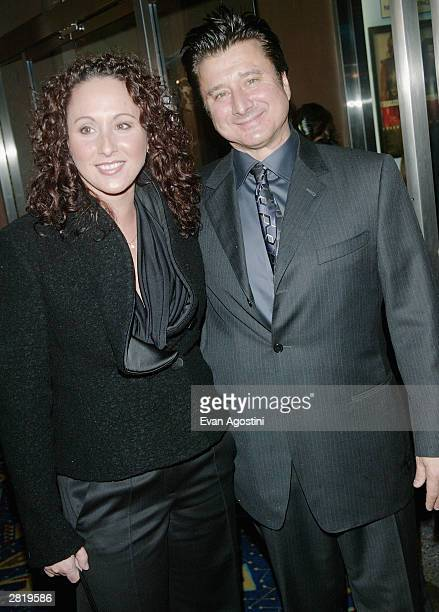 Singer Steve Perry and guest attend the New York Premiere of 'Monster' at the Chelsea West Cinema December 17 2003 in New York City