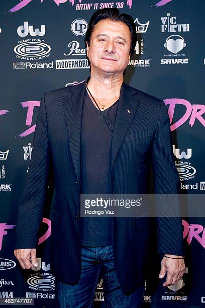 Singer Steve Perry attends the Guitar Center's 25th Annual DrumOff Grand Finals at Club Nokia on January 18 2014 in Los Angeles California