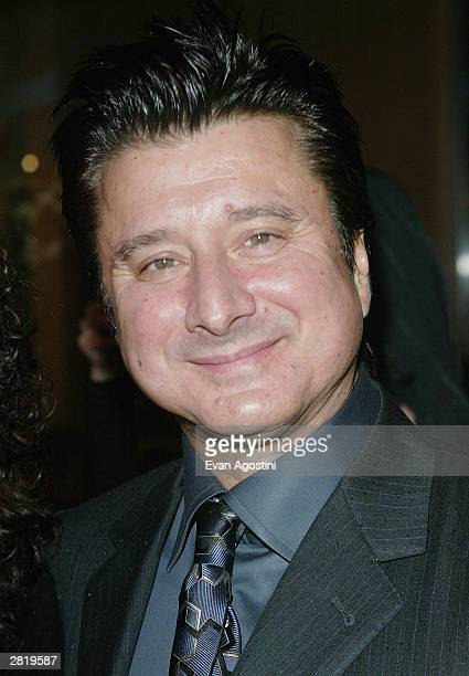 Singer Steve Perry attends the New York Premiere of 'Monster' at the Chelsea West Cinema December 17 2003 in New York City