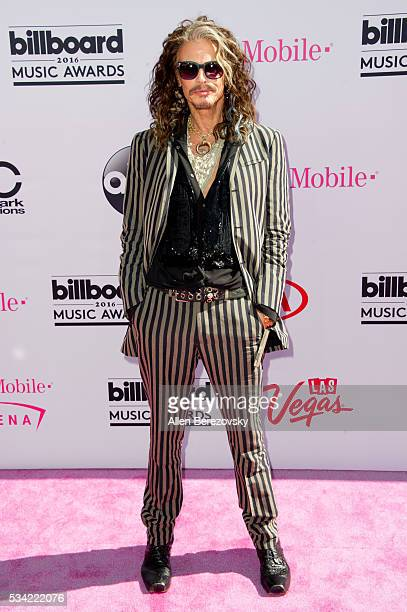 Singer Steven Tyler arrives at the 2016 Billboard Music Awards at TMobile Arena on May 22 2016 in Las Vegas Nevada