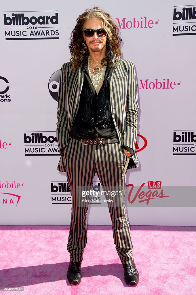 Singer Steven Tyler arrives at the 2016 Billboard Music Awards at T-Mobile Arena on May 22, 2016 in Las Vegas, Nevada.