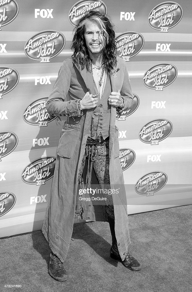 Singer Steven Tyler arrives at the 'American Idol' XIV Grand Finale at the Dolby Theatre on May 13, 2015 in Hollywood, California.