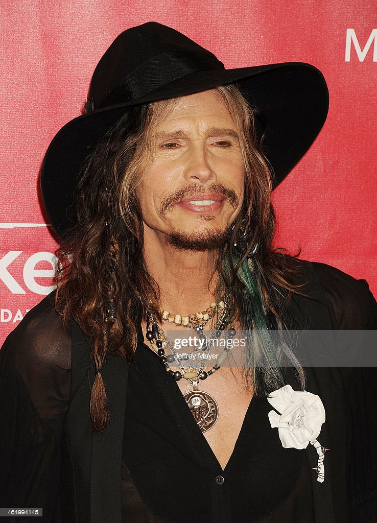 Singer Steven Tyler attends 2014 MusiCares Person Of The Year Honoring Carole King at Los Angeles Convention Center on January 24, 2014 in Los Angeles, California.