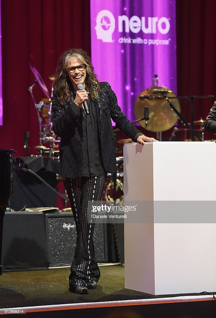 Singer Steven Tyler attends Bulgari at the 24th Annual Elton John AIDS Foundation's Oscar Viewing Party at The City of West Hollywood Park on February 28, 2016 in West Hollywood, California.