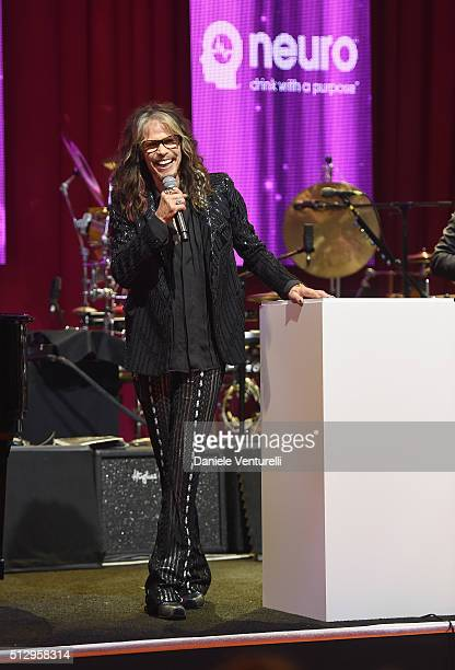 Singer Steven Tyler attends Bulgari at the 24th Annual Elton John AIDS Foundation's Oscar Viewing Party at The City of West Hollywood Park on...