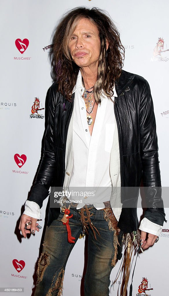 Singer Steven Tyler attends Sunset Marquis Hotel 50th Anniversary Birthday Bash at Sunset Marquis Hotel & Villas on November 16, 2013 in West Hollywood, California.