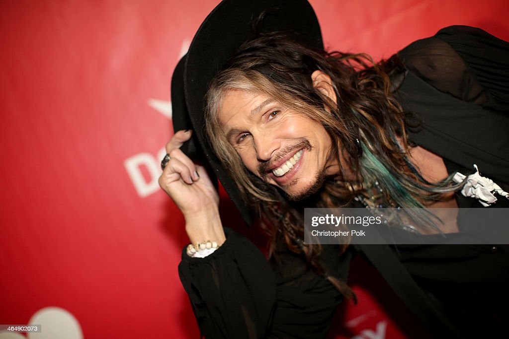 Singer Steven Tyler of Aerosmith attends 2014 MusiCares Person Of The Year Honoring Carole King at Los Angeles Convention Center on January 24, 2014 in Los Angeles, California.