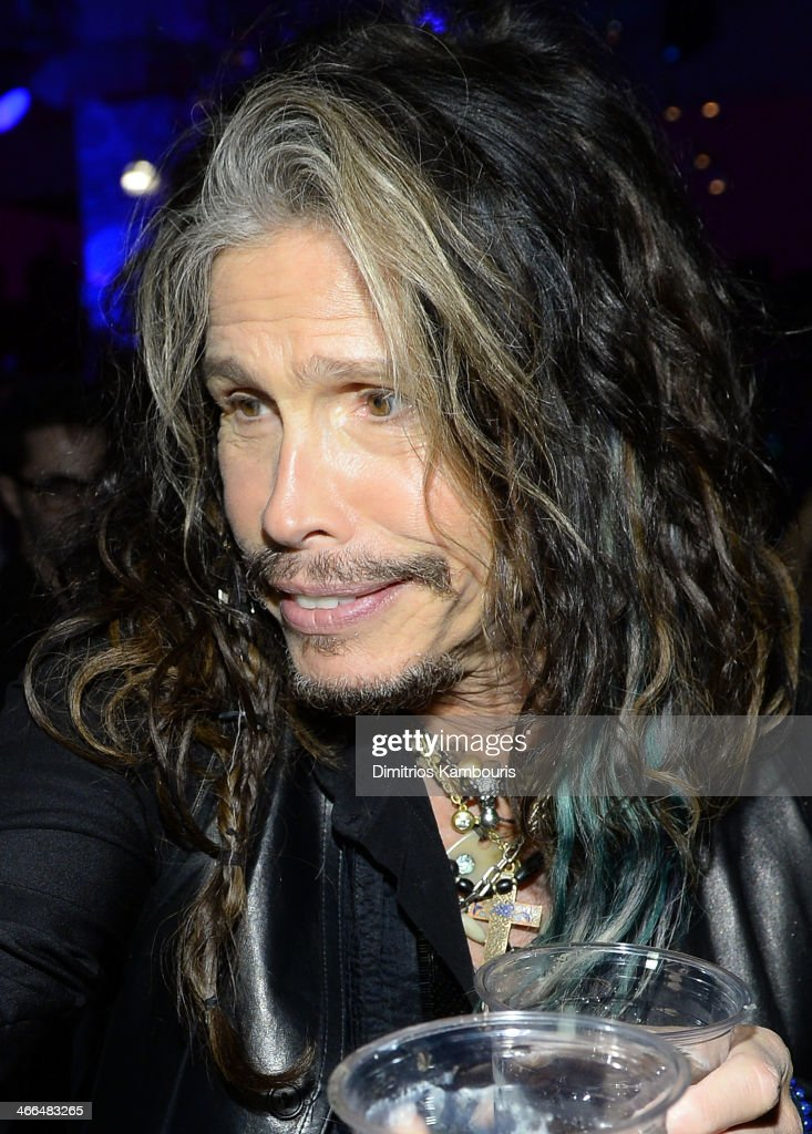 Singer Steven Tyler of Aerosmith attends Talent Resources Sports presents MAXIM 'BIG GAME WEEKEND' sponsored by AQUAhydrat, Heavenly Resorts, Wonderful Pistachios, Touch by Alyssa Milano, and Philippe Chow on February 1, 2014 in New York City.