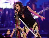 Singer Steven Tyler of Aerosmith performs onstage during the 2012 iHeartRadio Music Festival at the MGM Grand Garden Arena on September 22 2012 in...