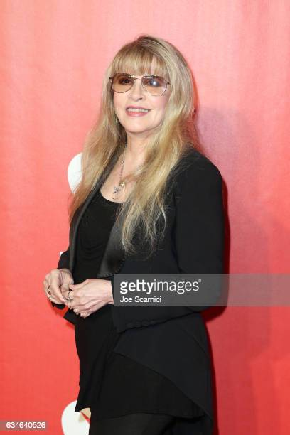 Singer Stevie Nicks attends MusiCares Person of the Year honoring Tom Petty at the Los Angeles Convention Center on February 10 2017 in Los Angeles...