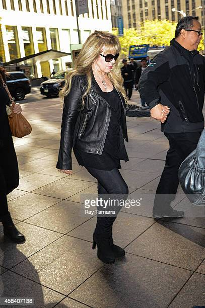 Singer Stevie Nicks enters the Sirius XM Studios on November 4 2014 in New York City