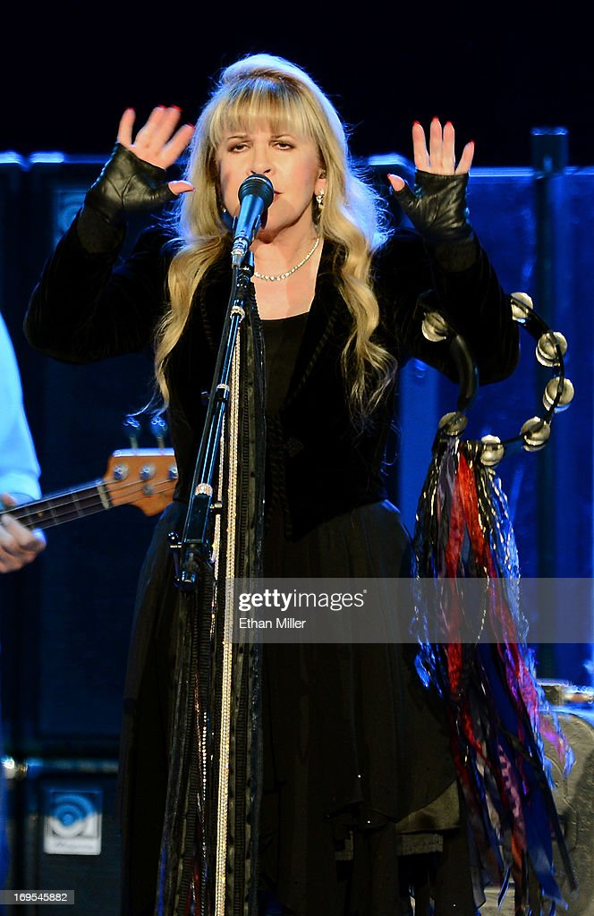 Singer Stevie Nicks of Fleetwood Mac performs at the MGM Grand Garden Arena on May 26, 2013 in Las Vegas, Nevada.