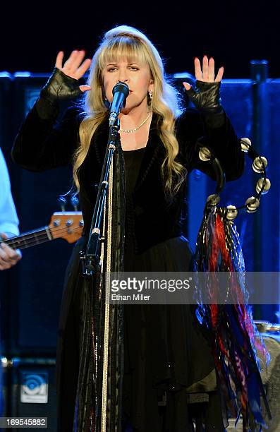 Singer Stevie Nicks of Fleetwood Mac performs at the MGM Grand Garden Arena on May 26 2013 in Las Vegas Nevada