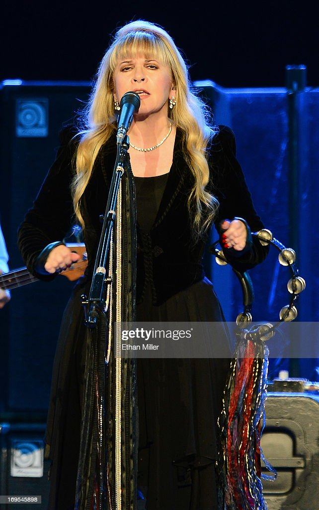 Singer <a gi-track='captionPersonalityLinkClicked' href=/galleries/search?phrase=Stevie+Nicks&family=editorial&specificpeople=212751 ng-click='$event.stopPropagation()'>Stevie Nicks</a> of Fleetwood Mac performs at the MGM Grand Garden Arena on May 26, 2013 in Las Vegas, Nevada.