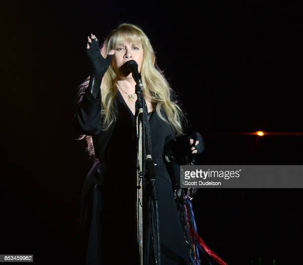 Singer Stevie Nicks of Fleetwood Mac performs onstage during the 2017 Bourbon and Beyond Festival at Champions Park on September 24 2017 in...