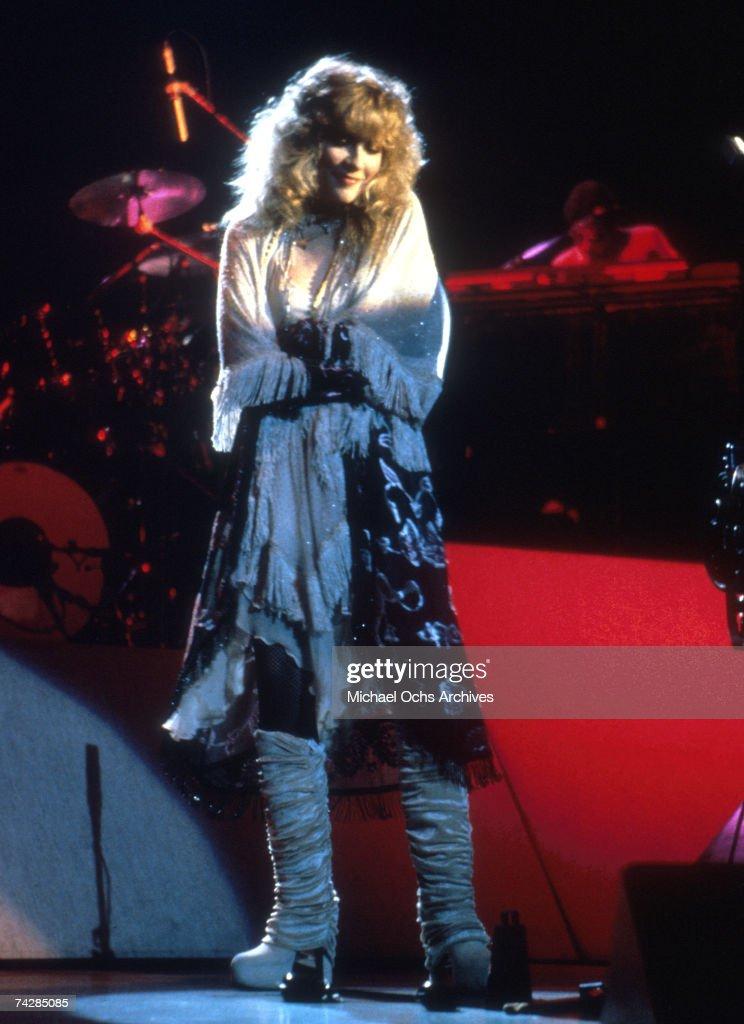 Singer Stevie Nicks performs onstage in circa 1990.