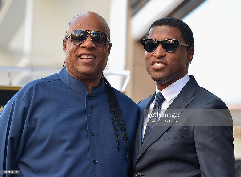 Singer <a gi-track='captionPersonalityLinkClicked' href=/galleries/search?phrase=Stevie+Wonder&family=editorial&specificpeople=171911 ng-click='$event.stopPropagation()'>Stevie Wonder</a> and songwriter/record producer Kenny '<a gi-track='captionPersonalityLinkClicked' href=/galleries/search?phrase=Babyface&family=editorial&specificpeople=227435 ng-click='$event.stopPropagation()'>Babyface</a>' Edmonds attend a ceremony honoring Kenny '<a gi-track='captionPersonalityLinkClicked' href=/galleries/search?phrase=Babyface&family=editorial&specificpeople=227435 ng-click='$event.stopPropagation()'>Babyface</a>' Edmonds with the 2508th Star on the Hollywood Walk of Fame on October 10, 2013 in Hollywood, California.