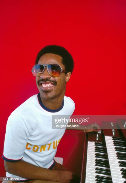 Singer Stevie Wonder at Keyboards