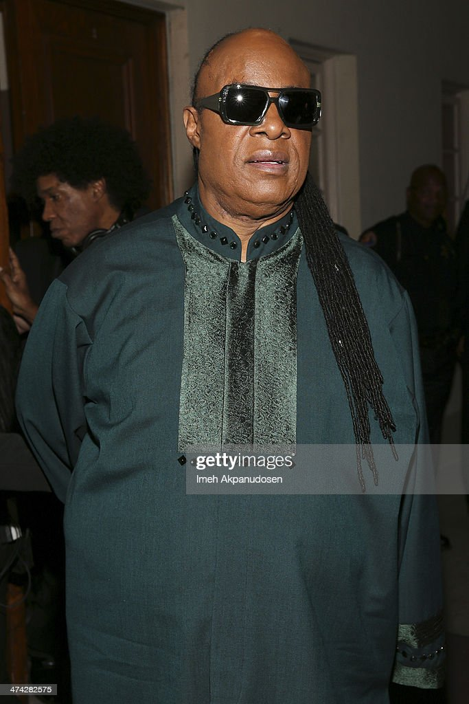 Singer <a gi-track='captionPersonalityLinkClicked' href=/galleries/search?phrase=Stevie+Wonder&family=editorial&specificpeople=171911 ng-click='$event.stopPropagation()'>Stevie Wonder</a> attends the 45th NAACP Image Awards presented by TV One at Pasadena Civic Auditorium on February 22, 2014 in Pasadena, California.