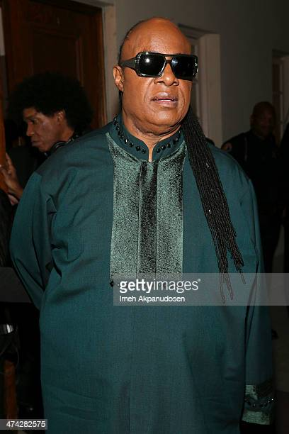 Singer Stevie Wonder attends the 45th NAACP Image Awards presented by TV One at Pasadena Civic Auditorium on February 22 2014 in Pasadena California