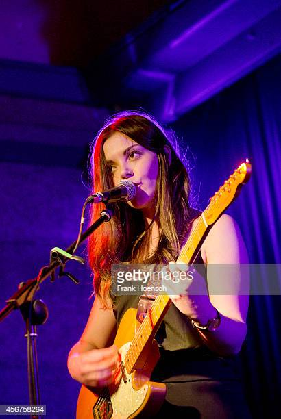 Singer Stina Tweeddale of Honeyblood performs live during a concert at the Berghain Kantine on October 6 2014 in Berlin Germany