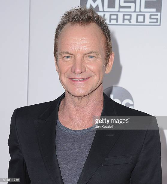 Singer Sting arrives at the 2016 American Music Awards at Microsoft Theater on November 20 2016 in Los Angeles California