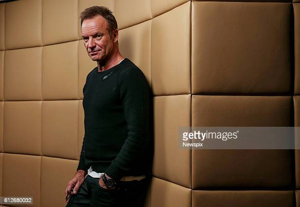 Singer Sting poses during a photo shoot in Melbourne Victoria