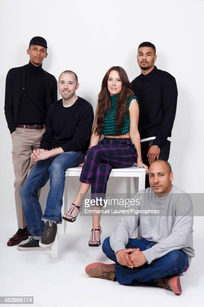 109668003 Singer Stromae and his design team Vincent Losson Coralie Barbier Luc Junior Tam and Olivier Gillard are photographed for Madame Figaro on...