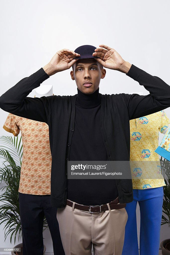 109668-004. Singer <a gi-track='captionPersonalityLinkClicked' href=/galleries/search?phrase=Stromae&family=editorial&specificpeople=6826786 ng-click='$event.stopPropagation()'>Stromae</a> is photographed for Madame Figaro on April 1, 2014 in Paris, France.
